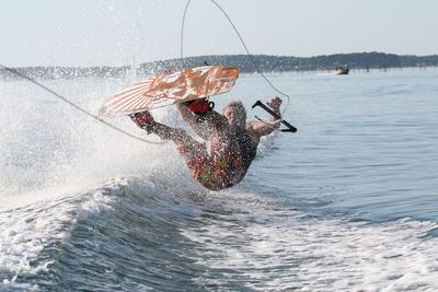 Bassin d'Arcachon, session Wake Board